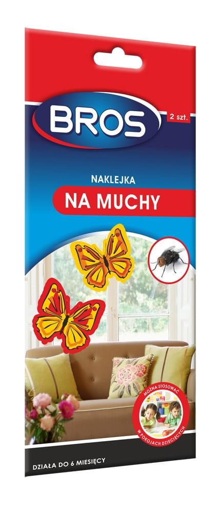 Bros Naklejka Trutka Na Muchy 2 Szt Motylki